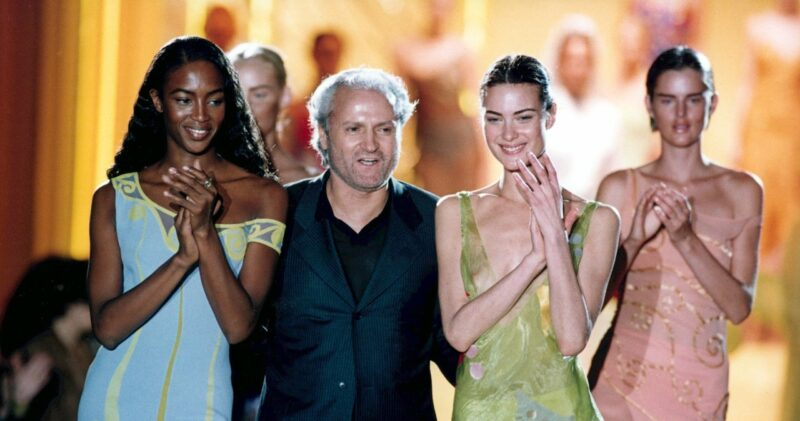 Gianni Versace alle sfilate