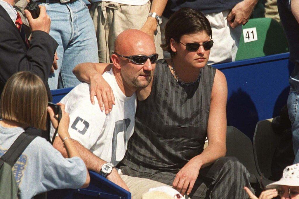 Barthez e Linda Evangelista